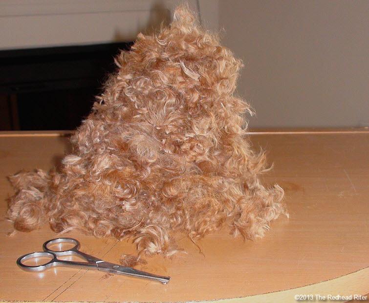 big pile of red poodle fur