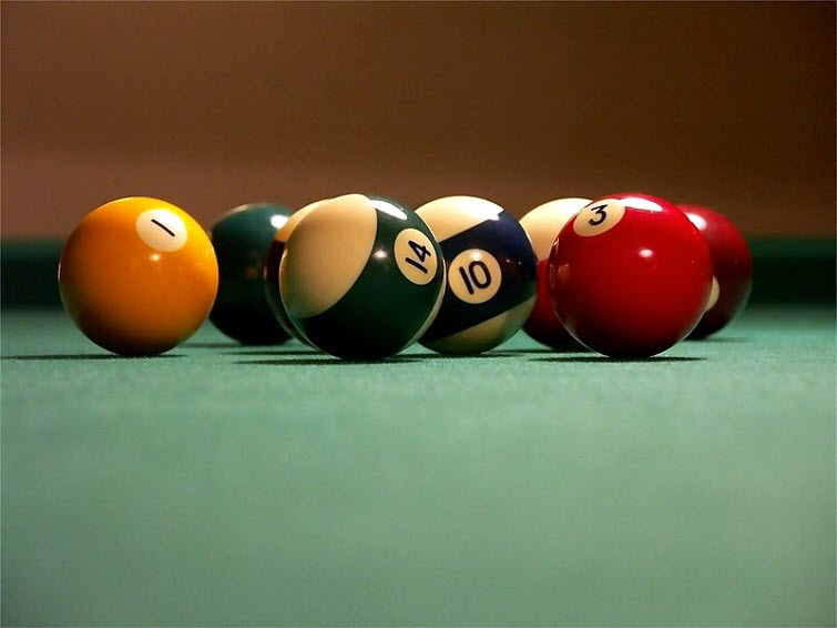billiard balls for pool