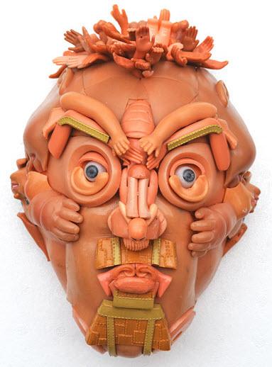 doll parts man face sculpture 4