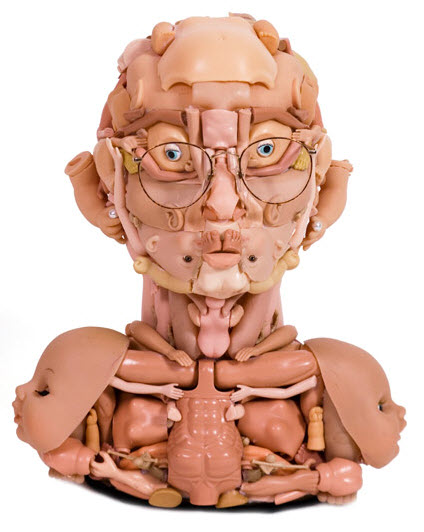 dollface doll parts sculpture