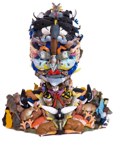 frida doll parts sculpture
