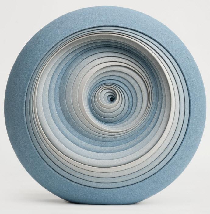 Ceramic Sculptures, Matthew Chambers, 'Blue Twist' Clique Series 2012. 33cm H