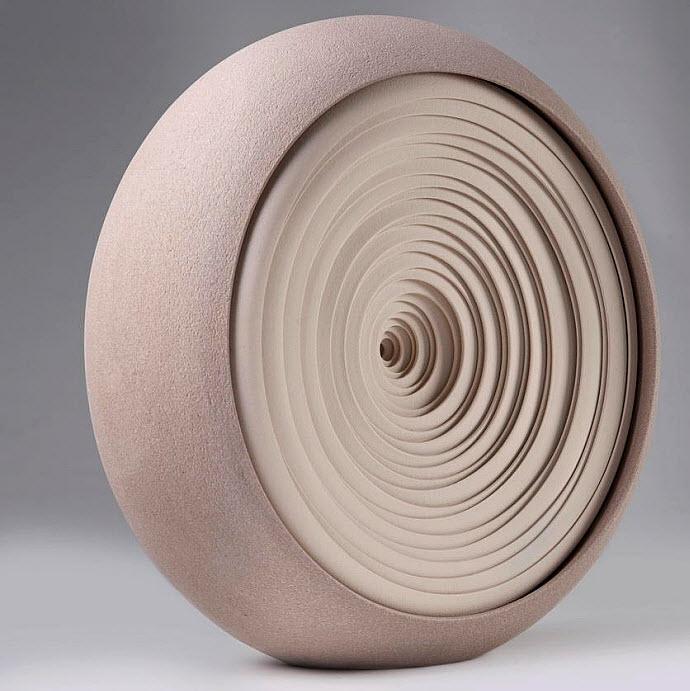 Ceramic Sculptures, Matthew Chambers, Crescent ll - 2010. 40cm H
