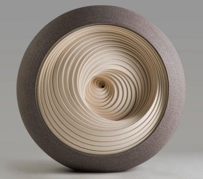 Ceramic Sculptures, Matthew Chambers, Ensphere l - 2010. 32cm H