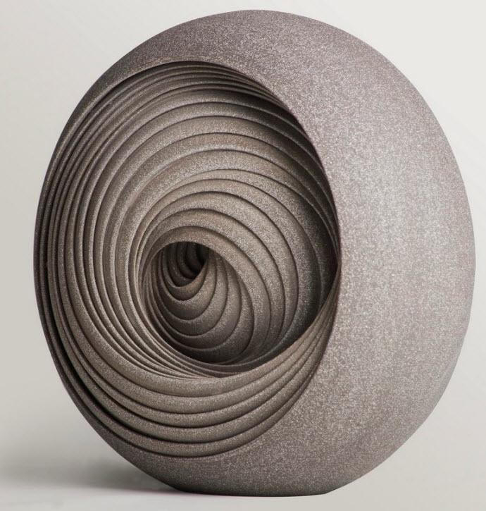 Ceramic Sculptures, Matthew Chambers, Ensphere ll -  2010. 27cm H