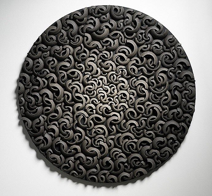 Ceramic Sculptures, Matthew Chambers, Fade - Wall piece 2009. 75cm W