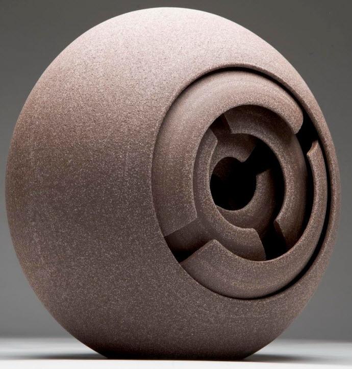 Ceramic Sculptures, Matthew Chambers, Split Symmetry - Fragmentation series 2009. 25cm H