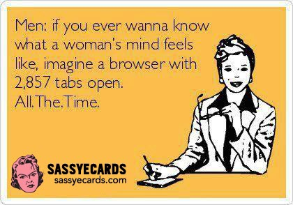 ecards funny a womans mind