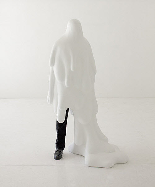 Daniel Arsham, Like A Sheet dripping man