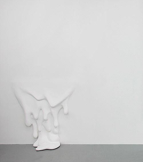 Daniel Arsham, Like A Sheet dripping wall sm