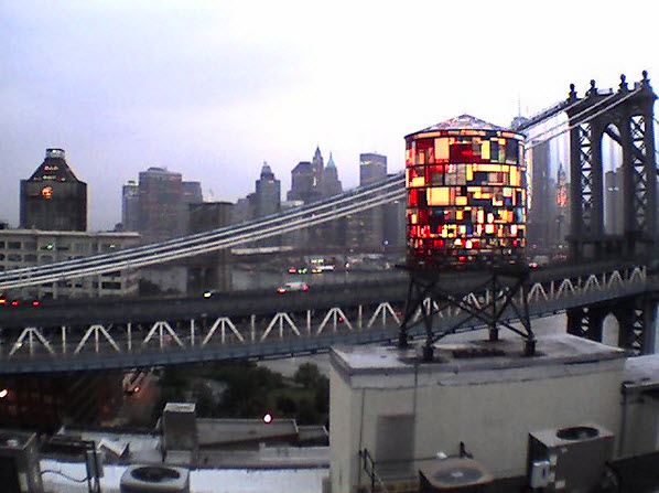 Tom Fruin Modern Stained-Glass Water Tower 1