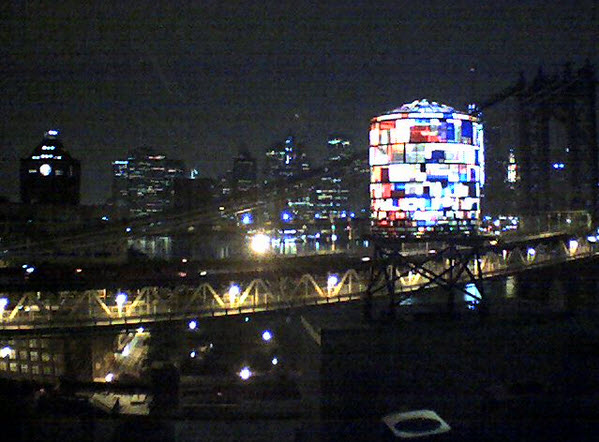 Tom Fruin Modern Stained-Glass Water Tower 4
