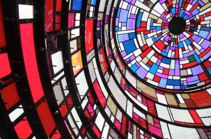 Tom Fruin Modern Stained-Glass Water Tower 8