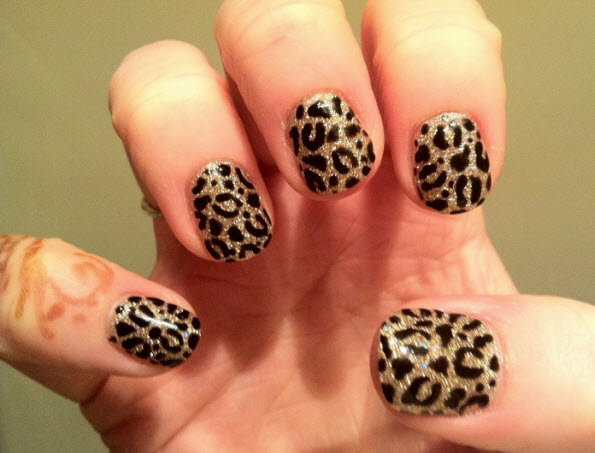 fingernail humor art cougar leopard animal print