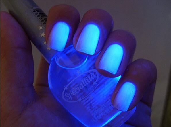 fingernail humor art glow in the dark