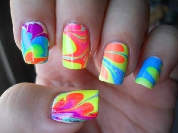 fingernail humor art swirl hippie multi-color
