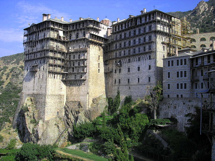 Simonopetra monastery on Mount Athos