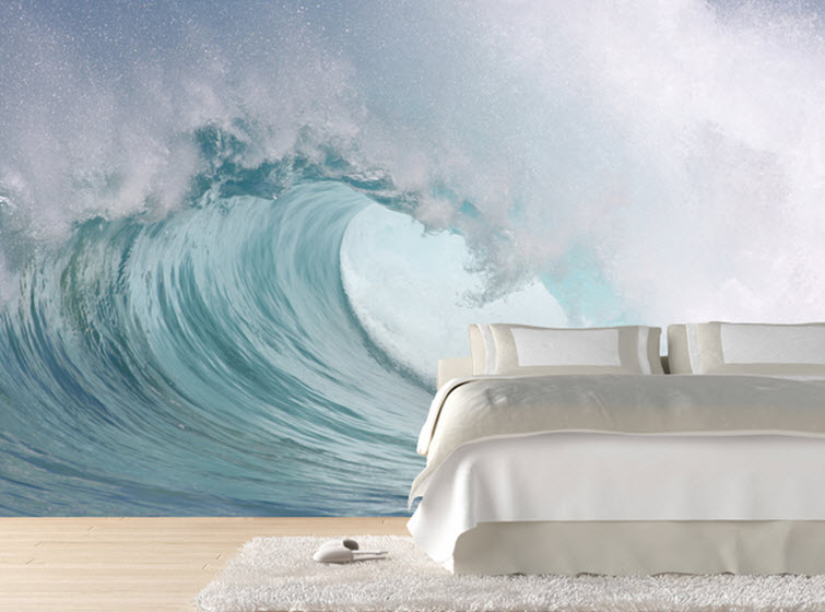 ocean wave bedroom Eazy Wallz wall photo