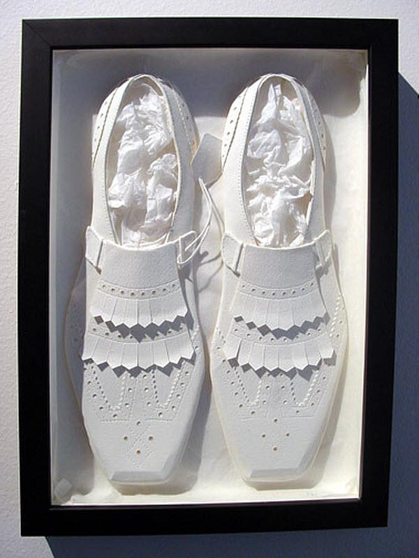 Cheong-ah Hwang's Paper Art Sculptures shoes