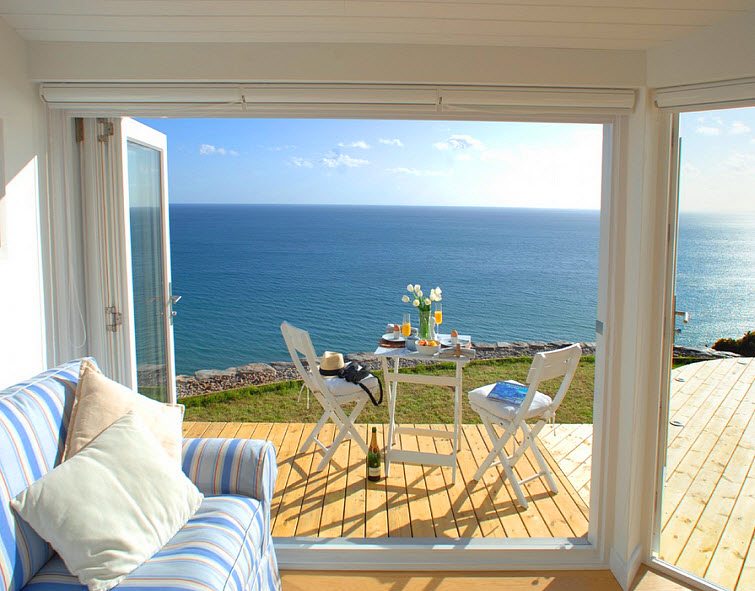 beach house ocean view The Edge Whitsand Bay, Cornwall