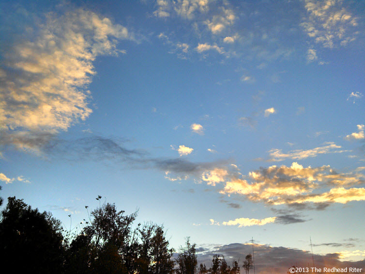 sunset blue sky white clouds 6