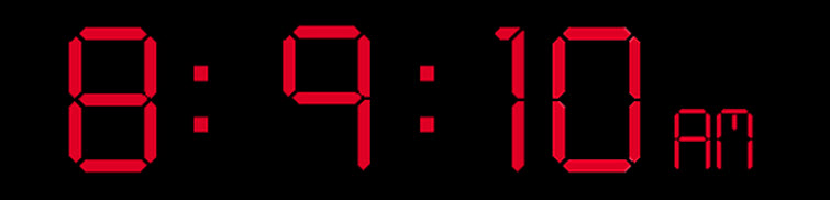 digital time 8 9 10 on 11 12 13
