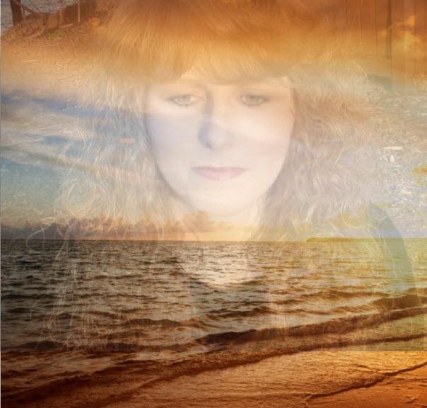 redhead sherry riter ocean sunset beach