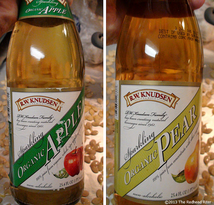 thanksgiving organic sparkling apple pear juice