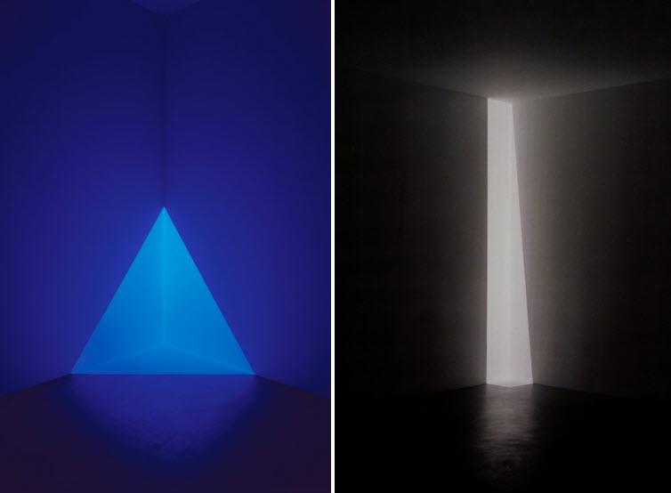 James Turrell light art Gard Blue and Enzu