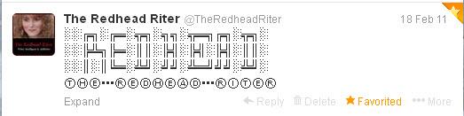 alt symbol twitter tweet redhead