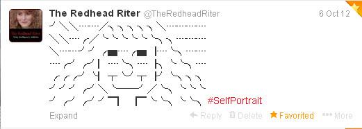 alt symbol twitter tweet self portrait