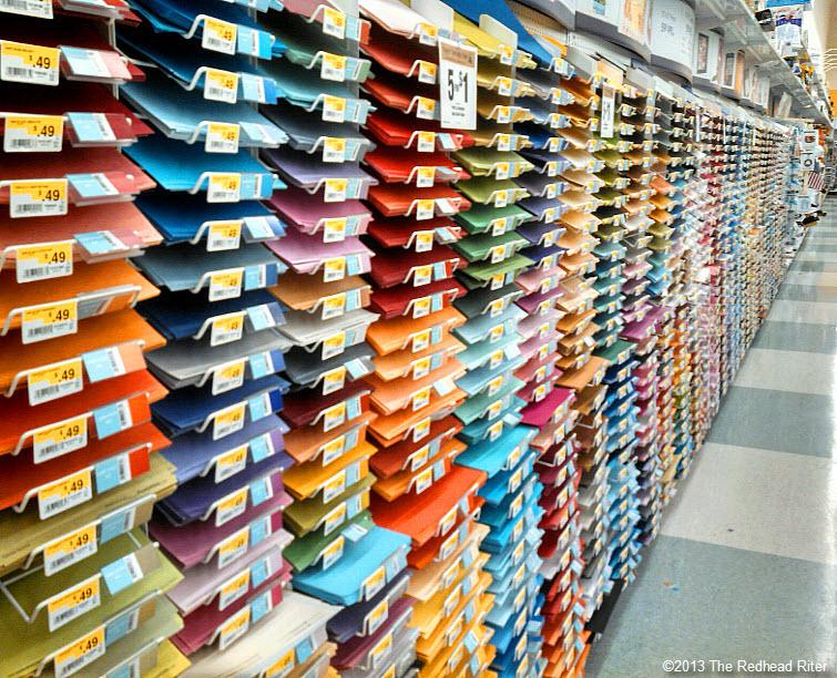 row of scrapbook paper