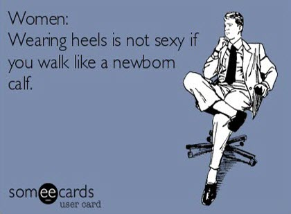 funny card quote pictures women wearing heels