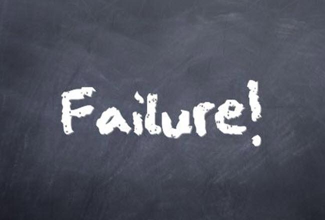 failure chalkboard message