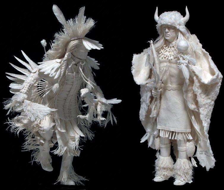 Paper Artists Eckman Cool Cast Paper Art Sculptures fancy dancers 2