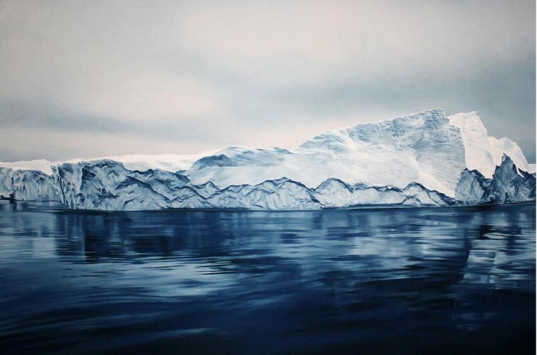 Zaria Forman Greenland #54 iceberg soft pastel on paper