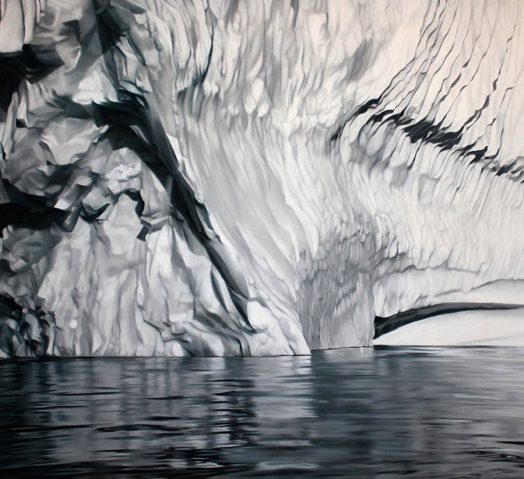 Zaria Forman Greenland #57 iceberg soft pastel on paper