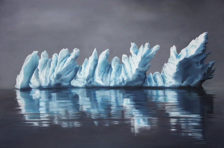 Zaria Forman Greenland #60 iceberg soft pastel on paper