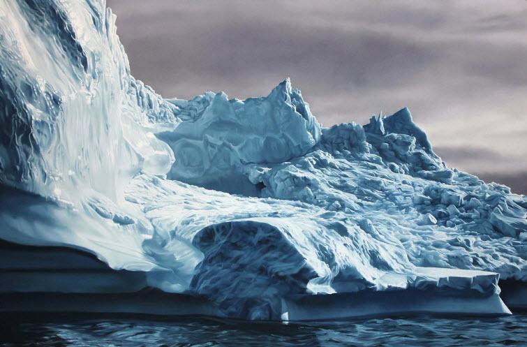 Zaria Forman Greenland #63 iceberg soft pastel on paper