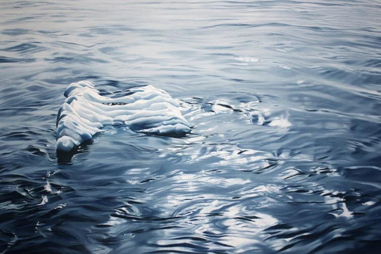 Zaria Forman Greenland #68 iceberg water soft pastel on paper