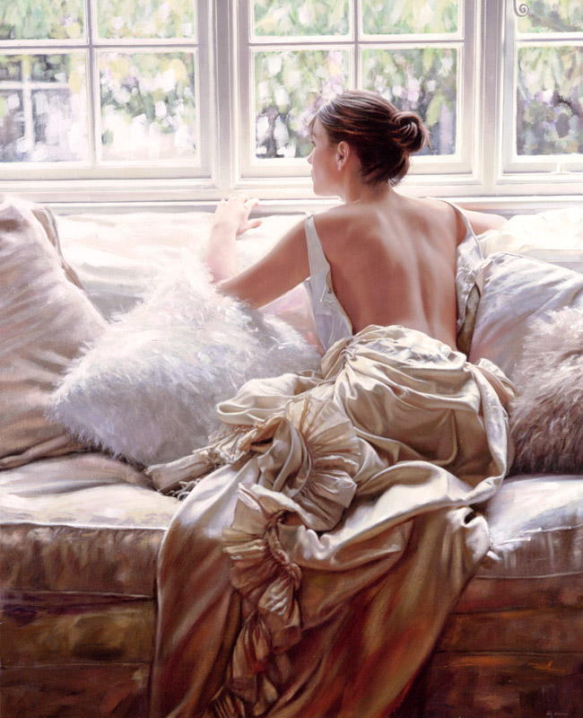 Artist Ron Hefferans Photorealistic Glamorous Oil Paintings 02