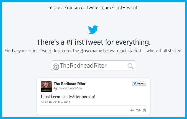 How To Find Your First Tweet Sherry Redhead Riter
