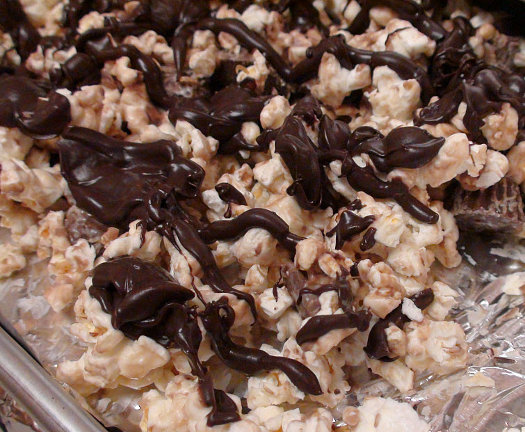 Edible Chocolate Covered Popcorn Bowl With Chocolate Candy Covered Popcorn Filling12