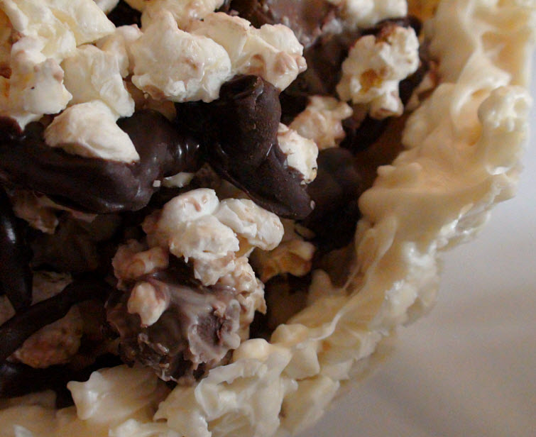 Edible Chocolate Covered Popcorn Bowl With Chocolate Candy Covered Popcorn Filling18