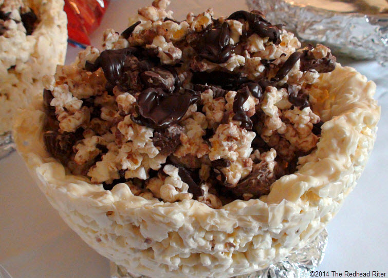 Edible Chocolate Covered Popcorn Bowl With Chocolate Candy Covered Popcorn Filling20