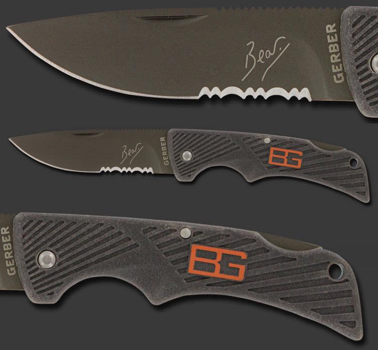 bear grylls gerber survival compact scout knife closeup