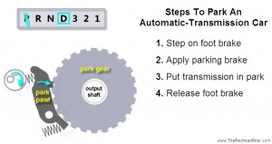 steps to park an automatic transmission car