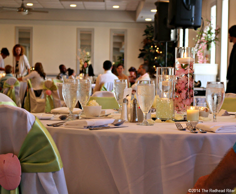 13 table setting Outer Banks Beach Wedding reception 1