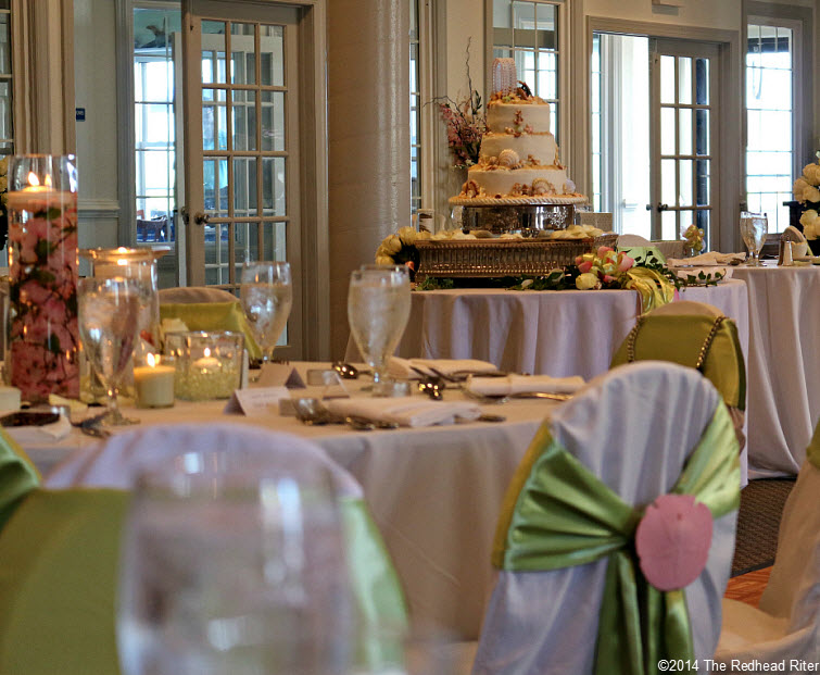 15 cake Outer Banks Beach Wedding reception 1