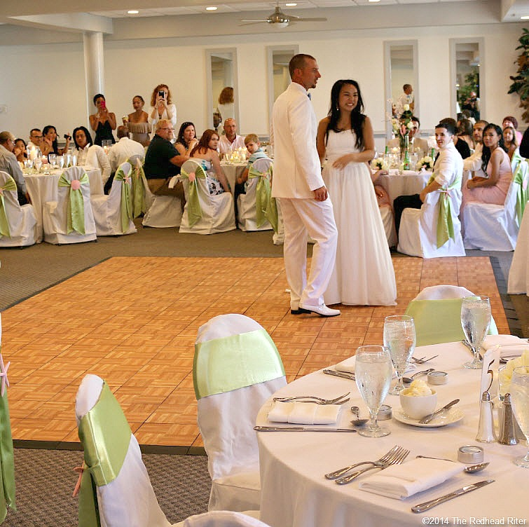 16 get ready to dance Outer Banks Beach Wedding reception 1